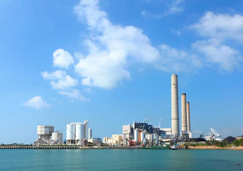 Power plants generate a significant amount of emissions gases during energy production.