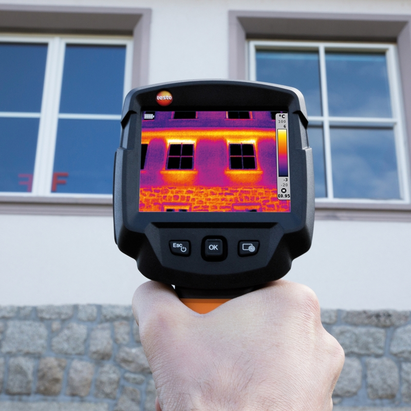 Testo's 871 thermal imaging device helps to detect energy inefficiencies in your facility without invasive maintenance.