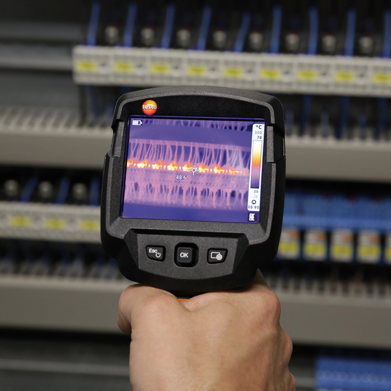 Infrared thermometers often utilize a laser pointer used to help the user gauge their directional readings.