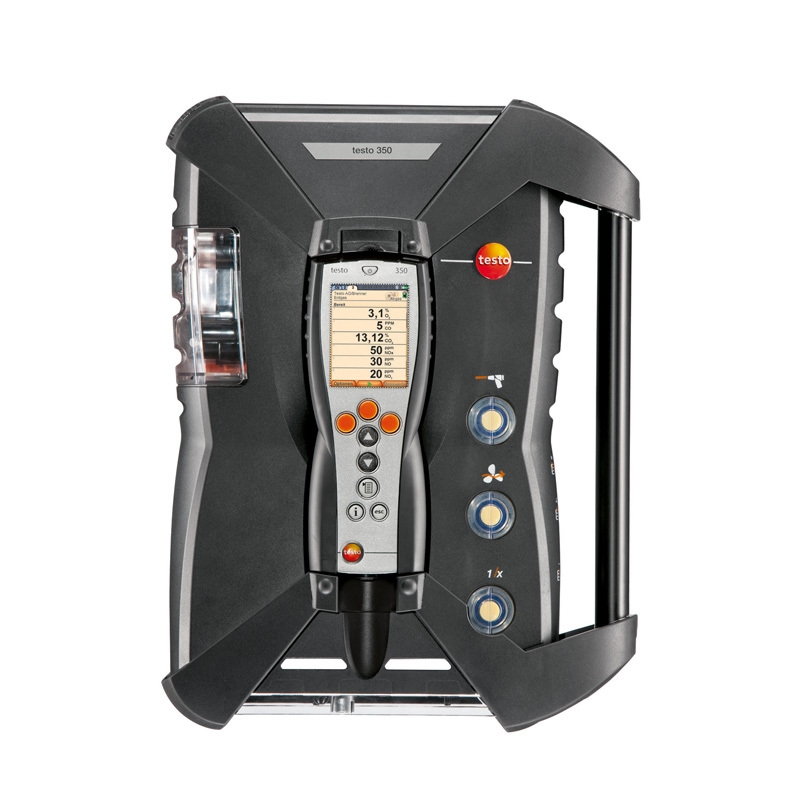 The testo 350 Analysis Box is the ultimate tool for tracking exhaust gas emissions.