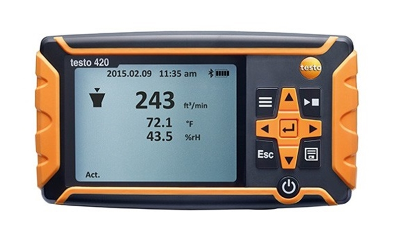 The real value of the testo 420 lies in its ability to fulfil multiple roles.