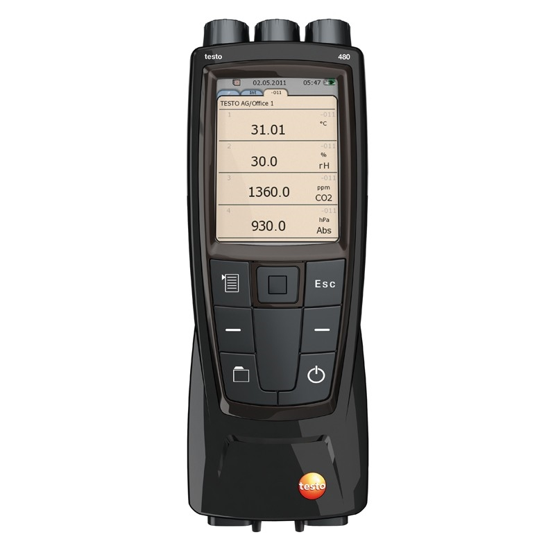 The testo 480 is vital for helping Dr. Gou record building performance thermal data in a more portable way.