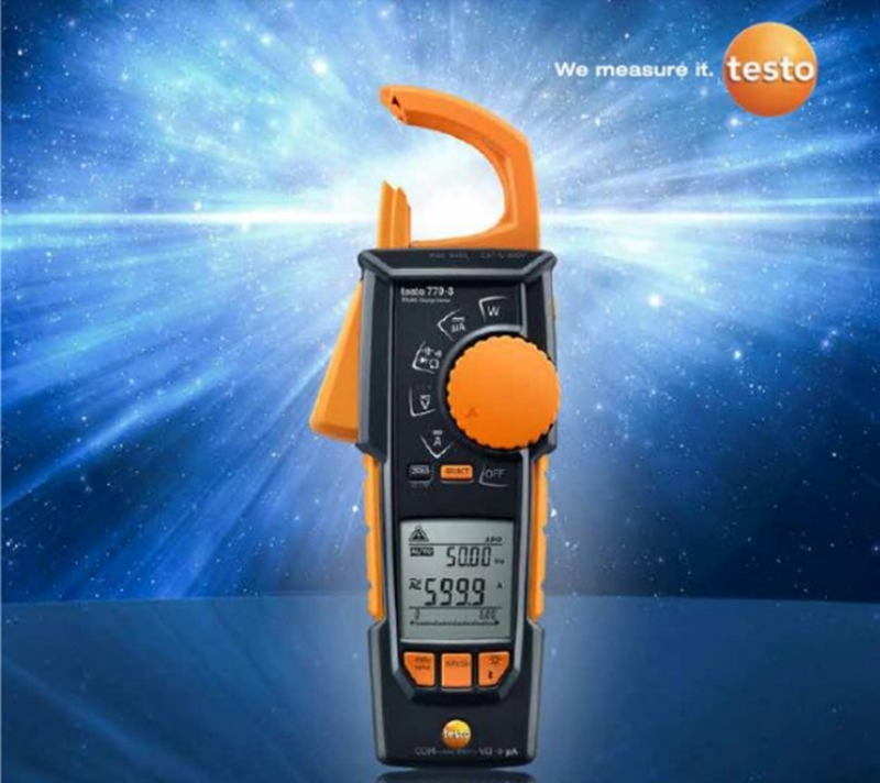 The testo 770-3 is the most advanced clamp meter available.