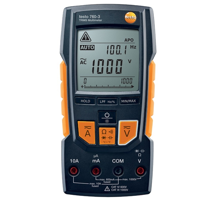 Testo's 760-3 multimeter offers unbeatable performance.