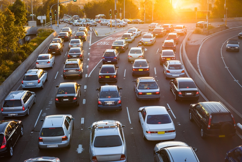 Traffic emissions are a major contributor to high nanoparticle concentration.