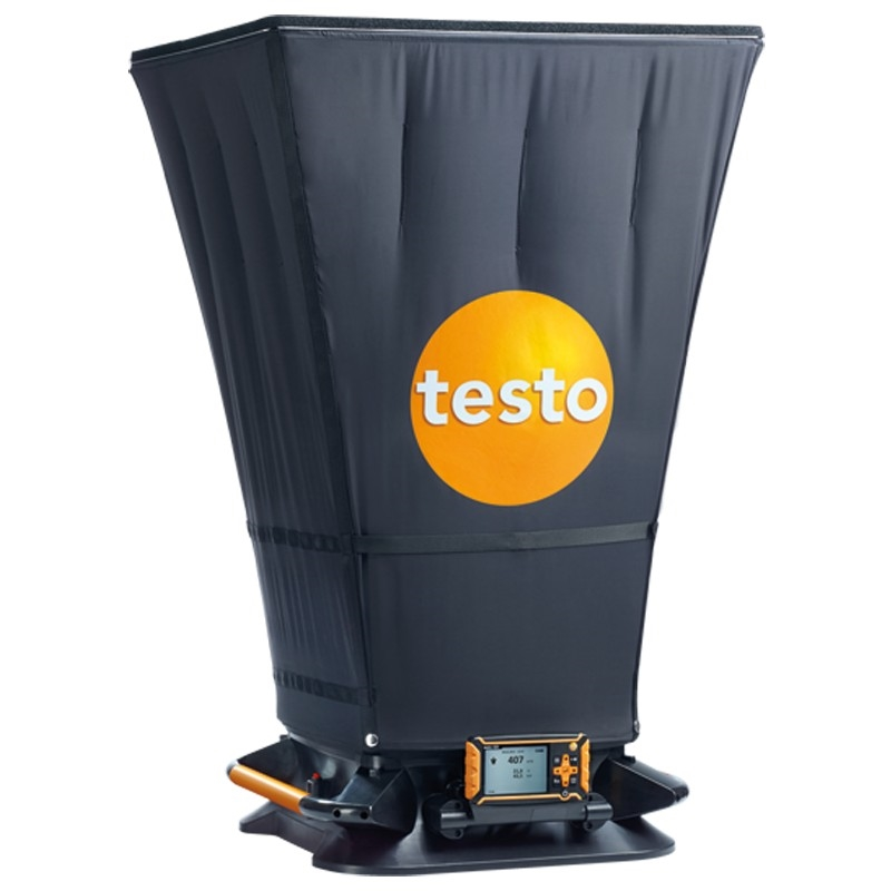 The testo 420 air flow hood is ideal for regular facility maintenance.