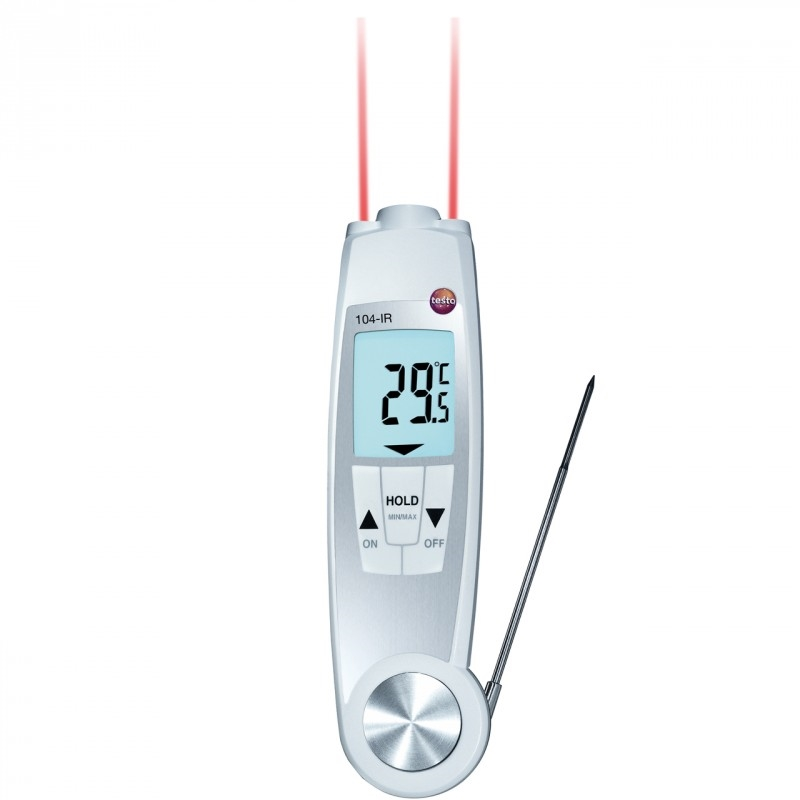 The testo 104-IR comes with infrared and probe thermometers.