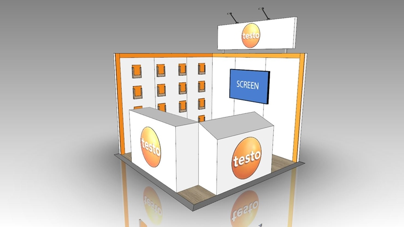 A sneak peek at stand number 2740 where you can find Testo at NMW.