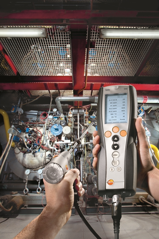 The testo 340 is ideal for regular industrial boiler maintenance.