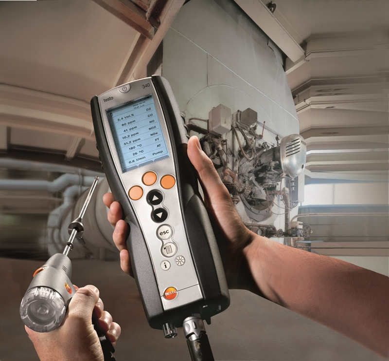 The testo 340 is a reliable and accurate flue gas analyser.