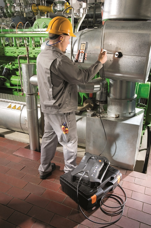 Testo's 350 exhaust gas analysis system is ideal for checking gas emissions.