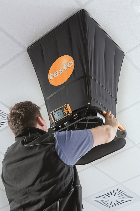The testo 420 volume flow hood is ushering in the future of HVAC.