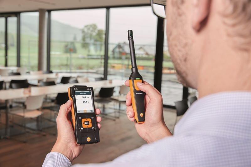 The testo 440 IAQ data logger offers Bluetooth connectivity.