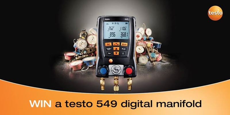 The best comment on our Facebook page wins a testo 549 digital manifold!