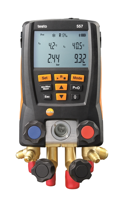 Testo's 557 refrigeration gauge does the job of multiple HVAC/R testing instruments in one.