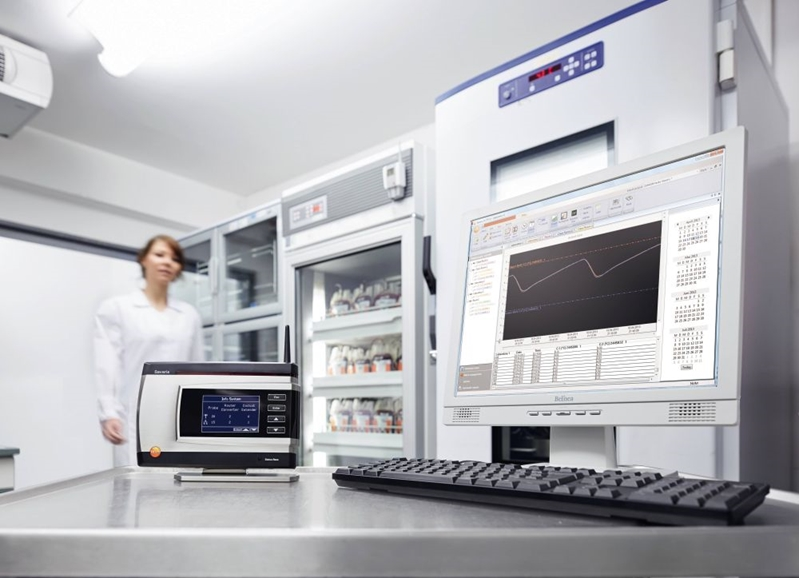 A testo Saveris solution implemented at a biobank.