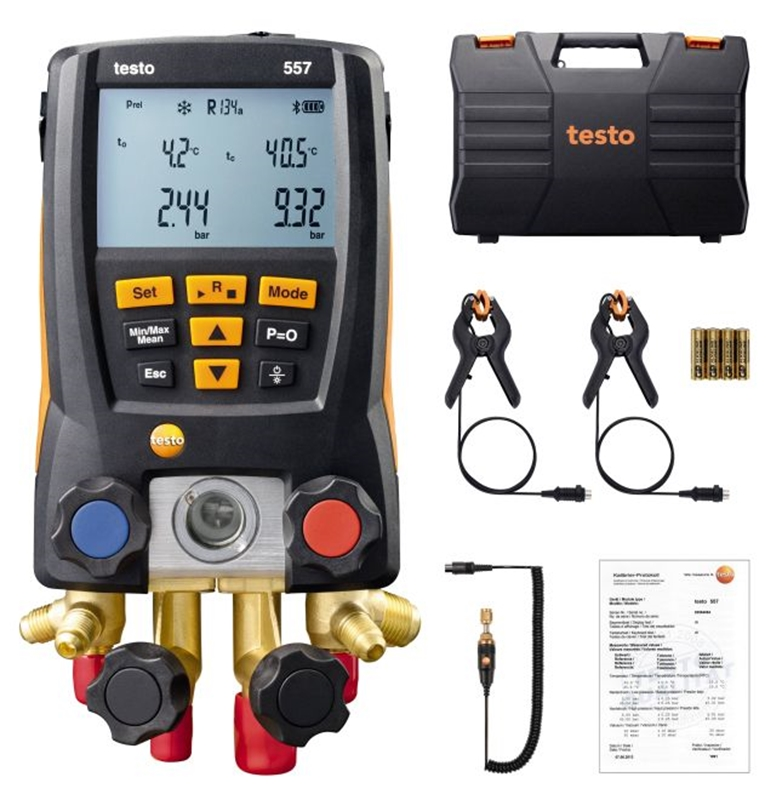 Testo's 557 refrigeration set is a complete refrigeration testing solution.