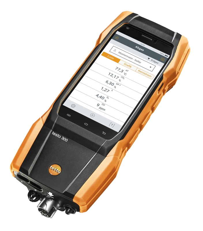 Testo's new 300 gas analyser solution offers similar functionality and ease-of-use expected with smart phones.