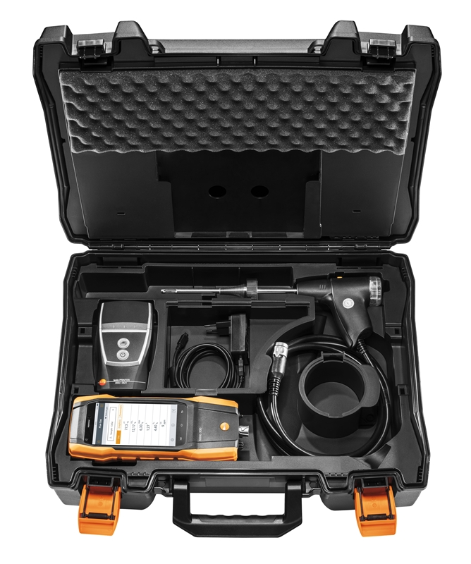 The full testo 300 kit is everything a  heating system technician needs to accurately measure and record key data.
